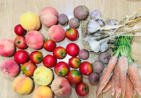 채소 과일 차이점 토마토 복숭아 고구마 사진