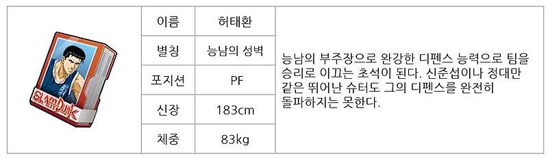 슬램덩크 모바일 허태환