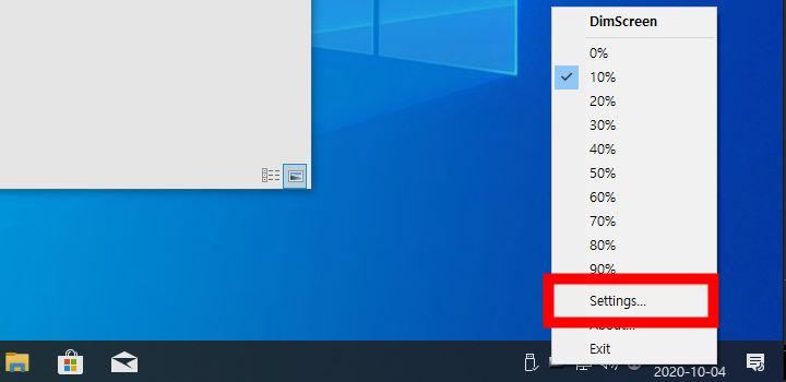 모니터 밝기 조절 프로그램 DimScreen 단축키 설정_1