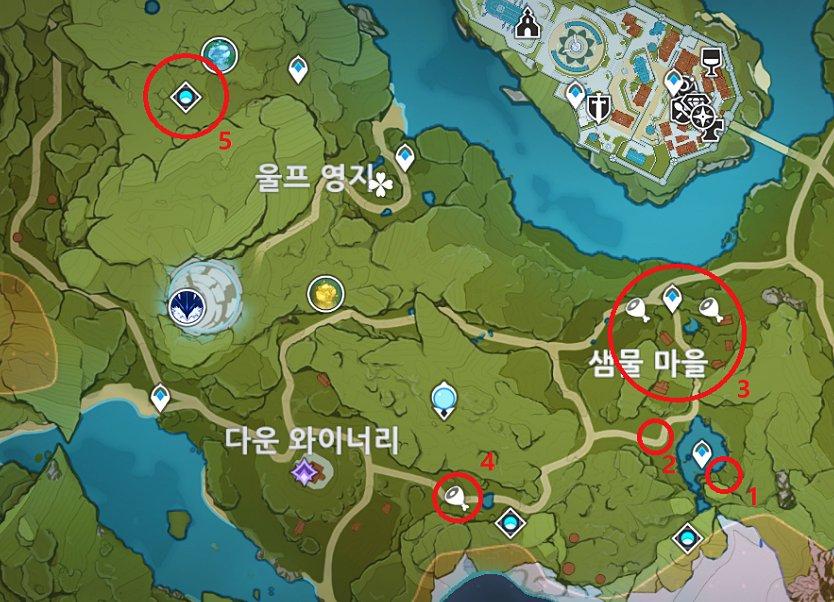 원신 짐승고기 파밍 몬드성 남서쪽_1